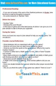 Subtraction Game - Teaching Notes