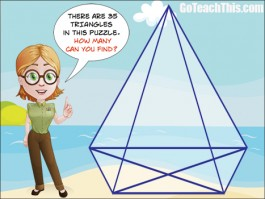 How Many Triangles Can You See?