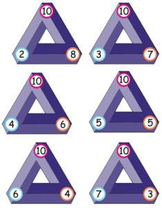 Triangular Flash Cards