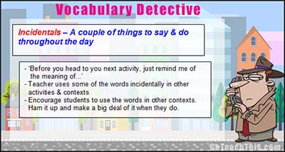 Vocabulary Lesson Ideas - Prompt Cards