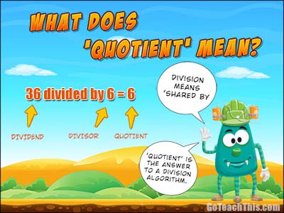 what does quotient mean?