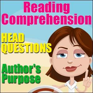 reading comprehension strategies authors purpose
