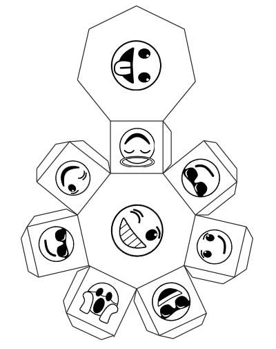 heptagonal prism net