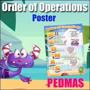 pedmas free poster