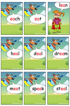 Phonics Game - Two Vowels Walking