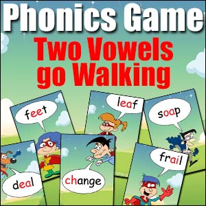 Phonics Game - Two Vowels Go Walking