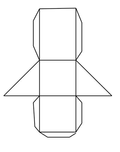 triangular prism net